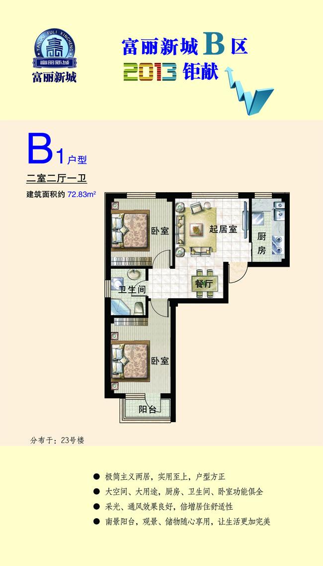 富丽新城户型图B1
